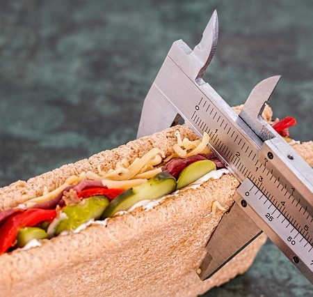 Food being measured for fitness purposes