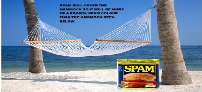 The Spammock (a hammock made of Spam)