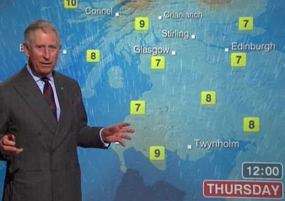 Prince Charles on BBC weather