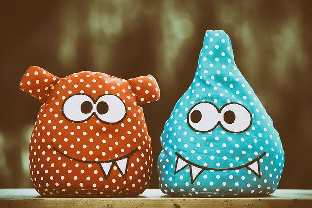 Crazy looking monster cushions