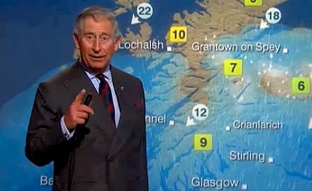 Prince Charles on the BBC weather