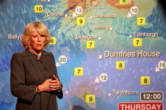 Camilla Parker Bowles on BBC weather