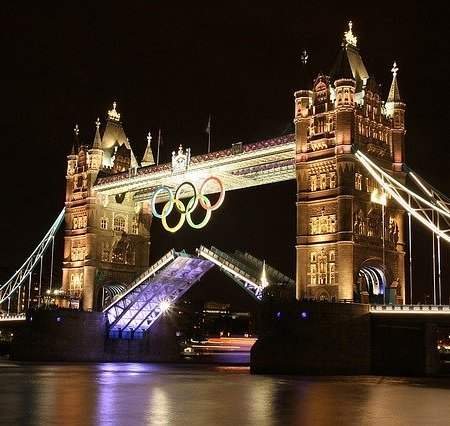 Tower Bridge during the 2012 London Olympics