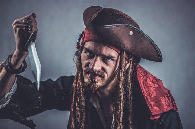 A pirate wielding a blade