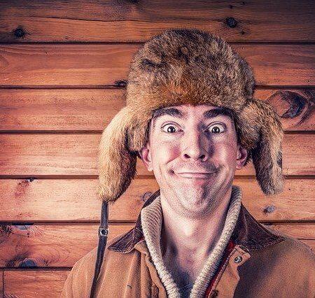 A lunatic wearing a hat