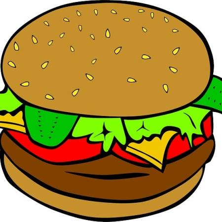 A cartoon hamburger