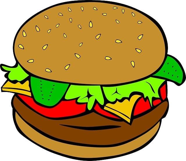 A cartoon hamburger