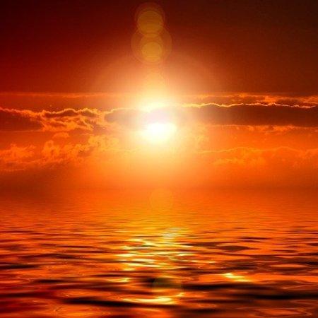 A dramatic sunset.