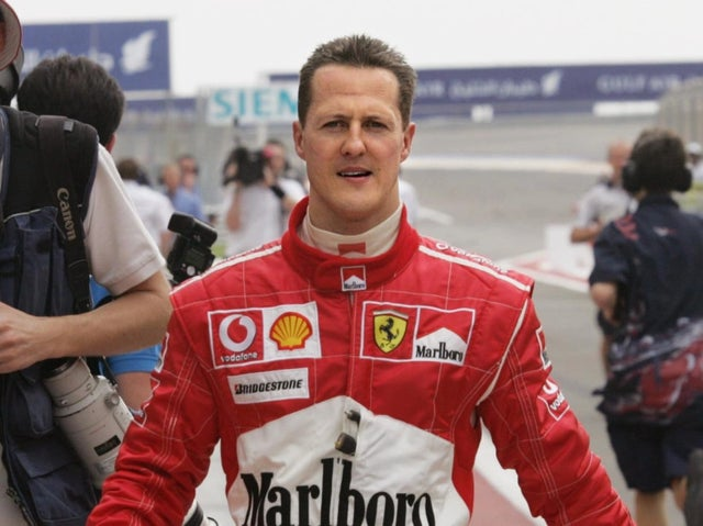 Michael Schumacher in his Ferrari overalls