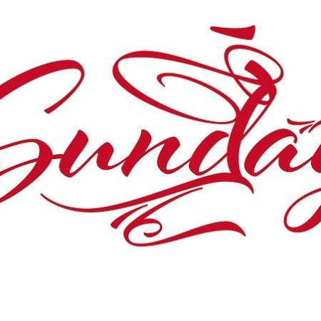 Sunday written in elegant typography