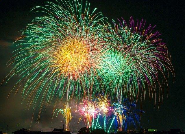 An impressive fireworks display