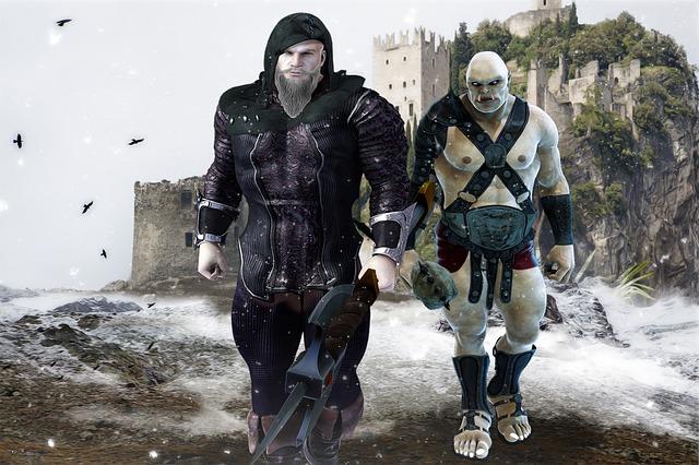 Orc warriors near a castle