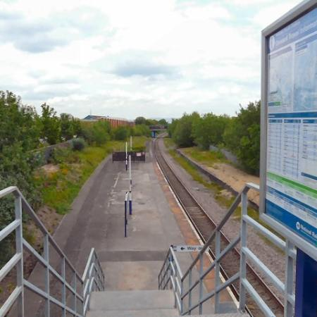 South Reddish train station in Manchester.
