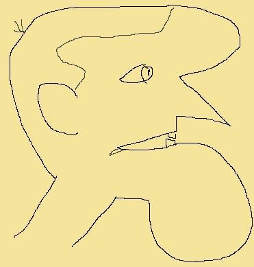 A grotesque profile