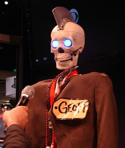 Geoff the Robot, apparently. Clearly he/it is in high demand.