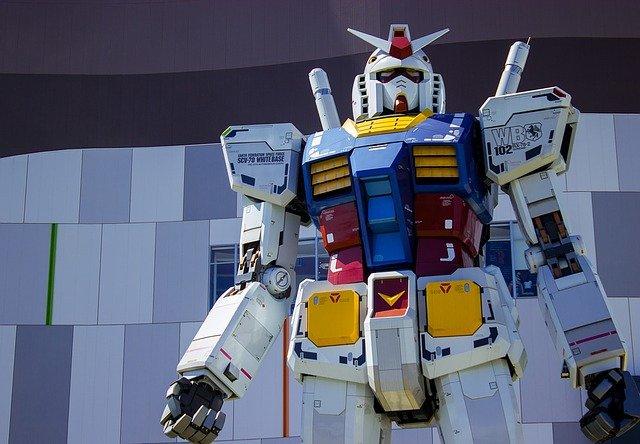 A giant robot looking menacing