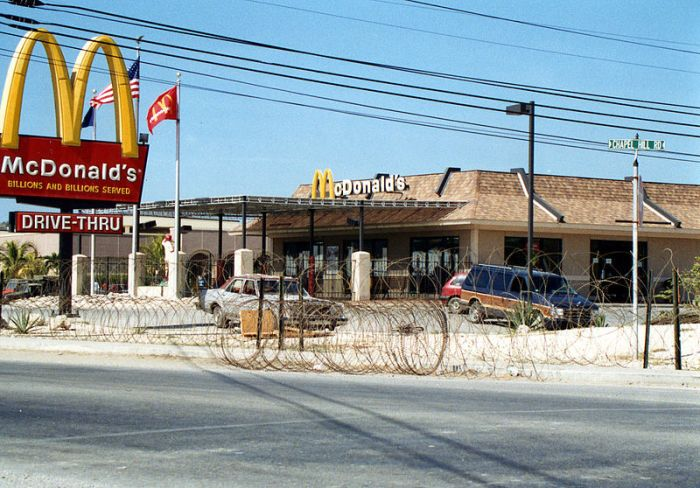 Guantanamo Bay and a McDonald's