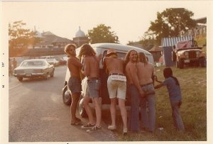 """Having """"crashed"""" the car the Hippies soon decided to give up and take to the Abyss."""