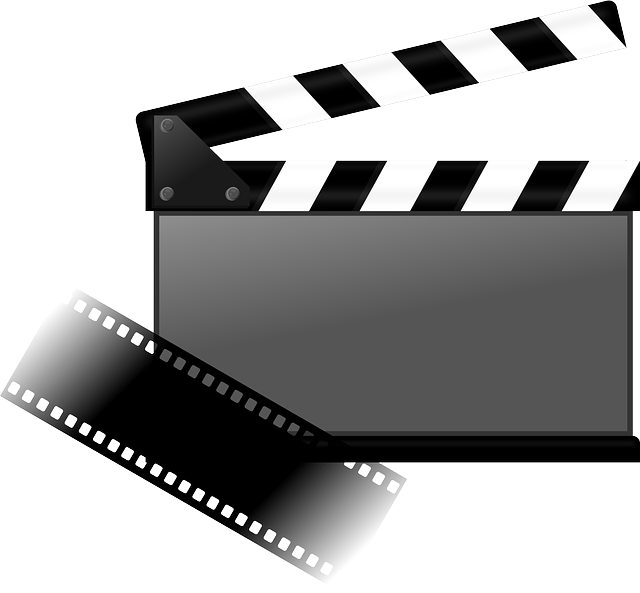 A clapperboard for cinema and filming