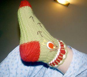 A sock.