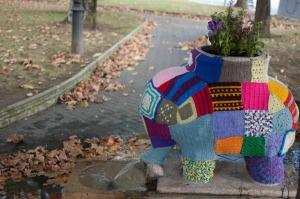 An elephant with a jumper. Ja!