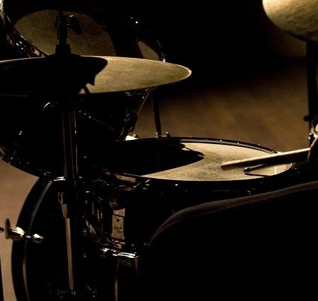 Jazz drum kit set up like Buddy Rich and Gene Krupa
