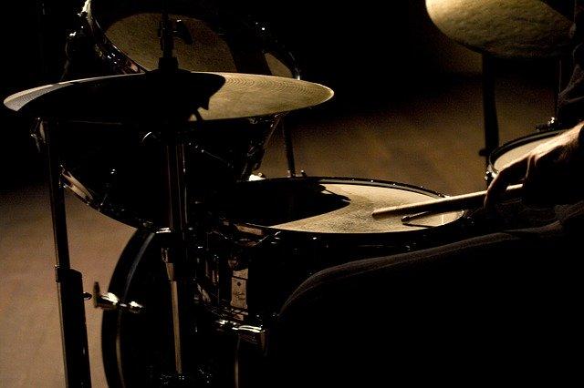 Jazz drum kit set up like Buddy Rich and Gene Krupa