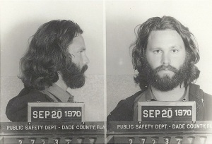 Jim Morrison passed the course so well he was arrested for alleged cheating.