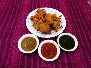 Onions of Bhaji.
