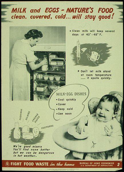 Eggs and Milk.