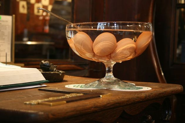 Eggs can even be used in fancy cocktails.