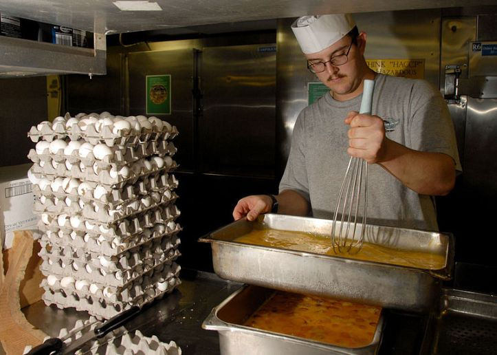 As you can see, some chefs can't even begin their shift without 7,000 spare eggs.