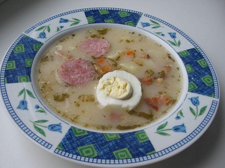 Egg soup.