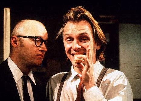 Rik Mayall, on the right, in Bottom.