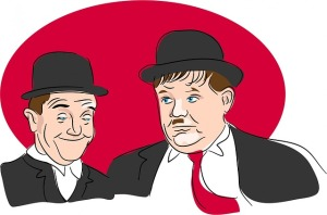If Laurel and Hardy can find each other, so can other people. Innit.