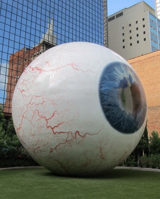 Warning: Eyeballs are not usually this big. If one of yours is, seek medical assistance immediately.