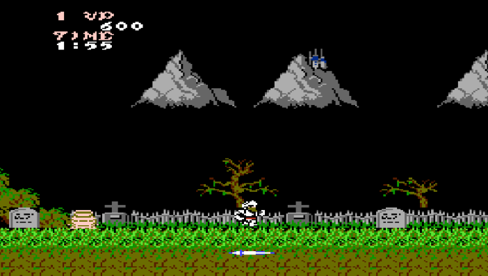 Ghosts 'N Goblins gameplay for the NES