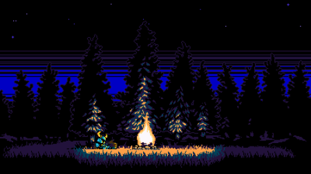 Shovel Knight campfire