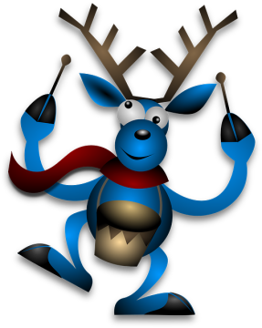 Reindeer, such as this idiot, are renowned for being utter imbeciles.