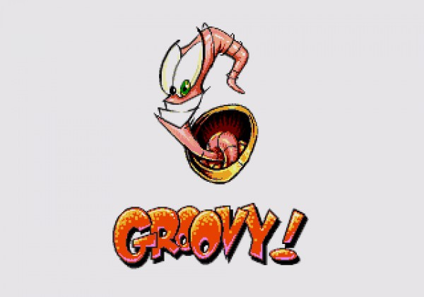 "Earthworm Jim saying ""Groovy!"""