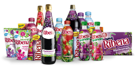 An assortment of Ribena drinks
