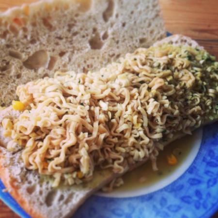 Pot Noodle sandwich