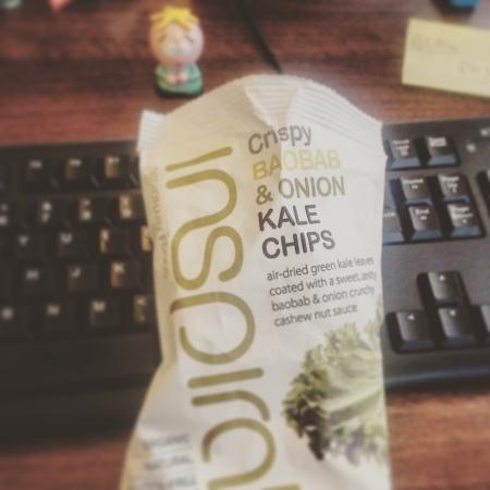 Crispy Baobab and Onion Kale Chips