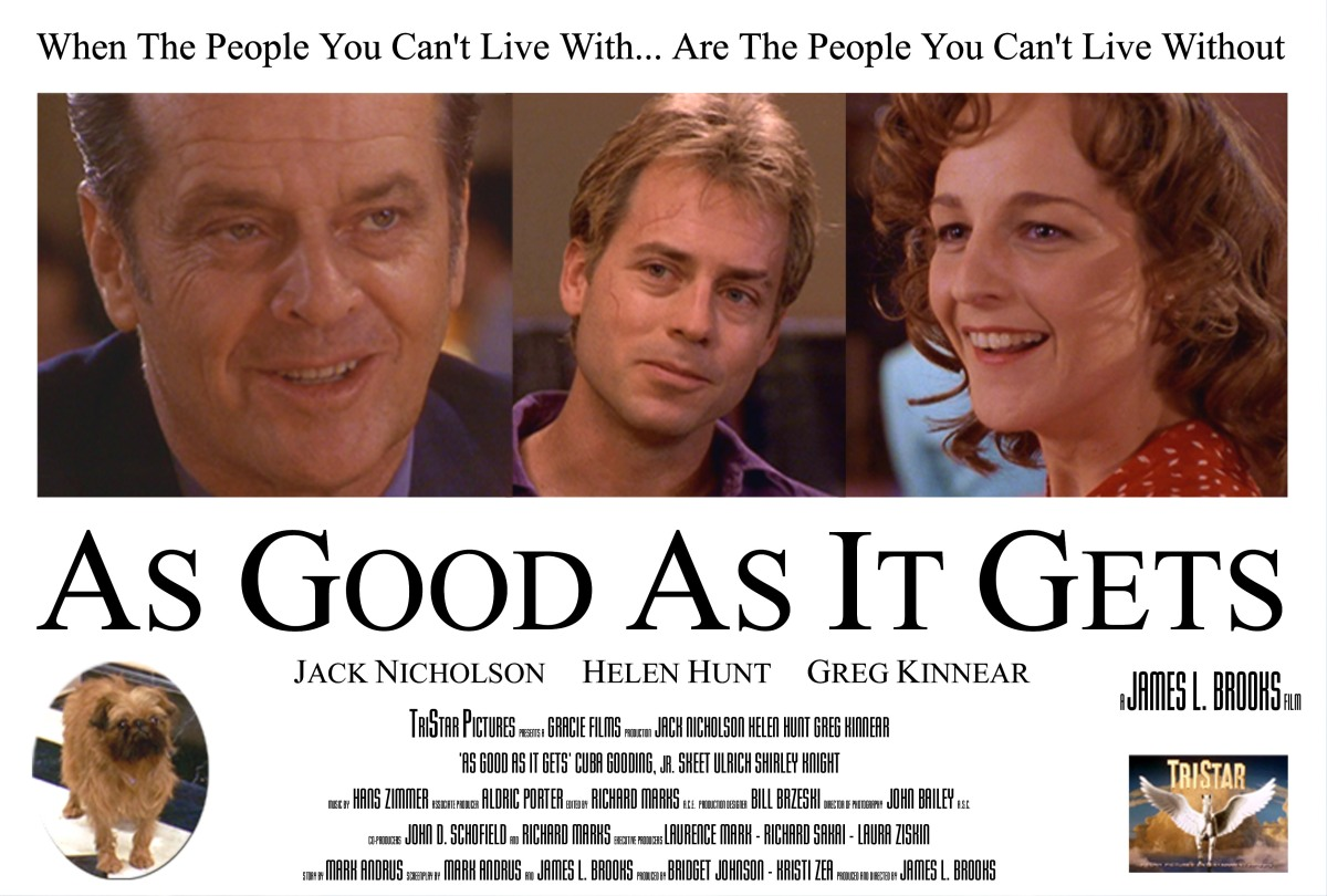 "As Good As It Gets Movie Quotes: As Good As It Gets: ""You Make Me Want To Be A Better Man"