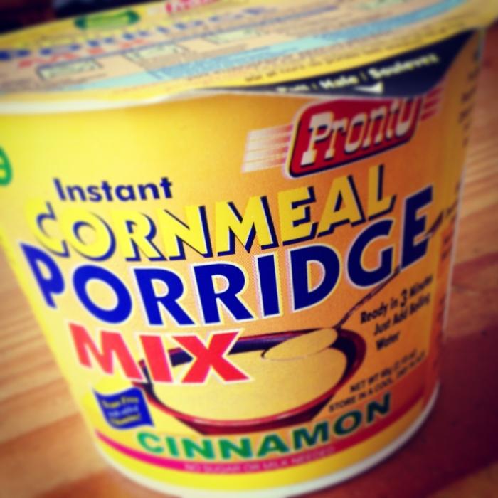 Instant Cornmeal Porridge with Cinnamon