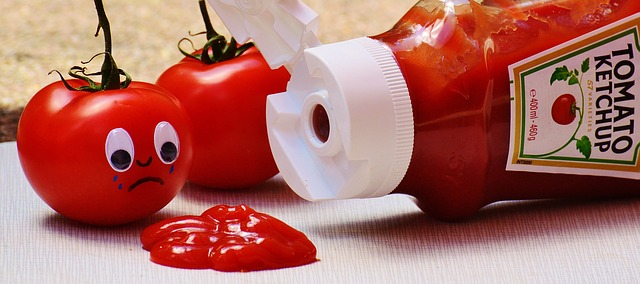 Tomato ketchup ice cream
