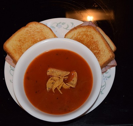 Soup and toast recipe