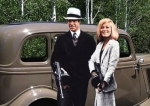 Bonnie and Clyde in the film