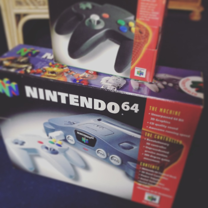 Nintendo 64 box for the 20th Anniversary in the UK