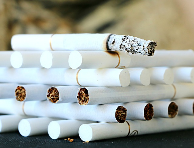 Tobacco smoked salmon
